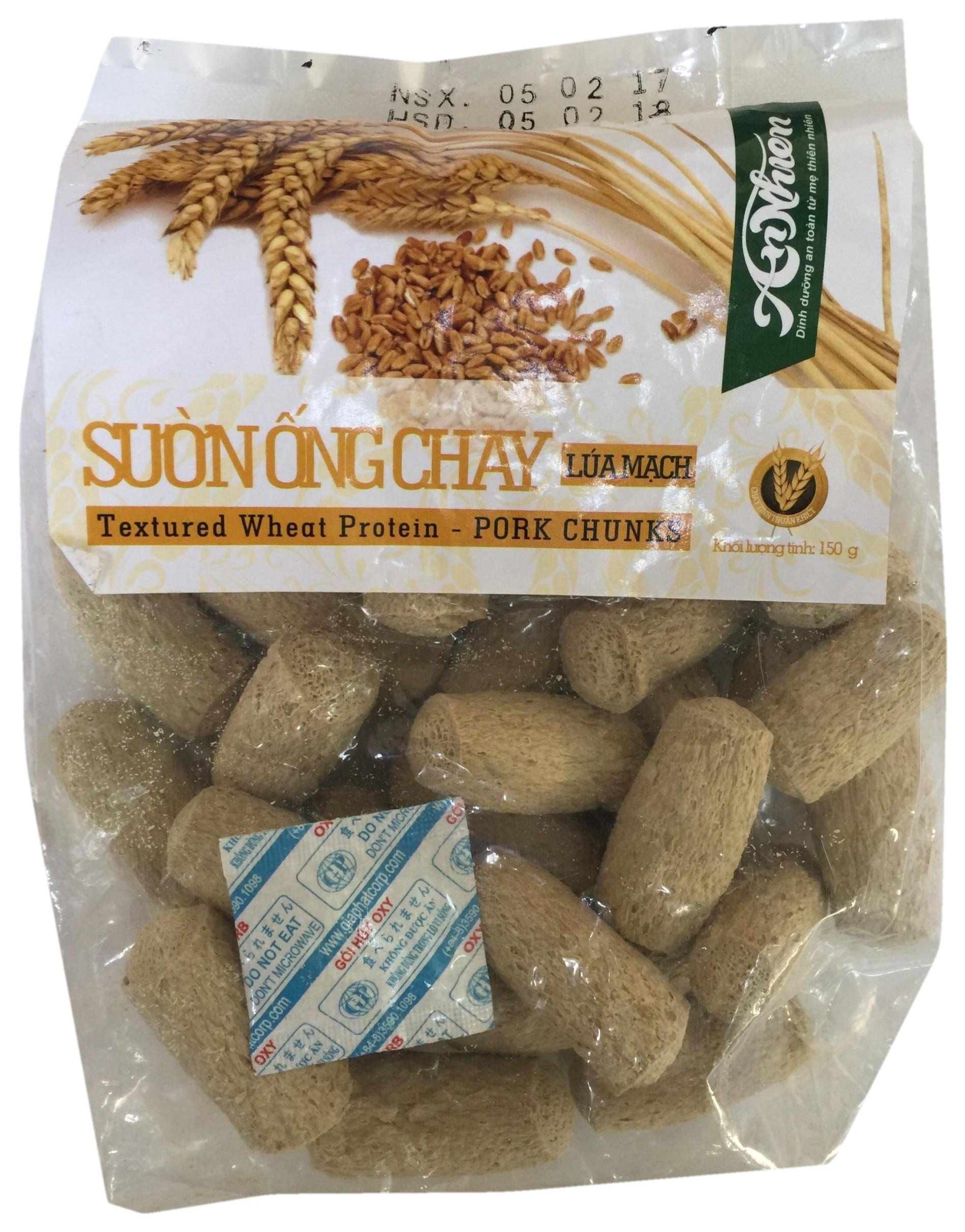 Wheat protein pork chunks