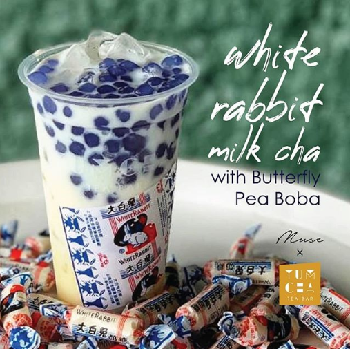 white rabbit milk tea